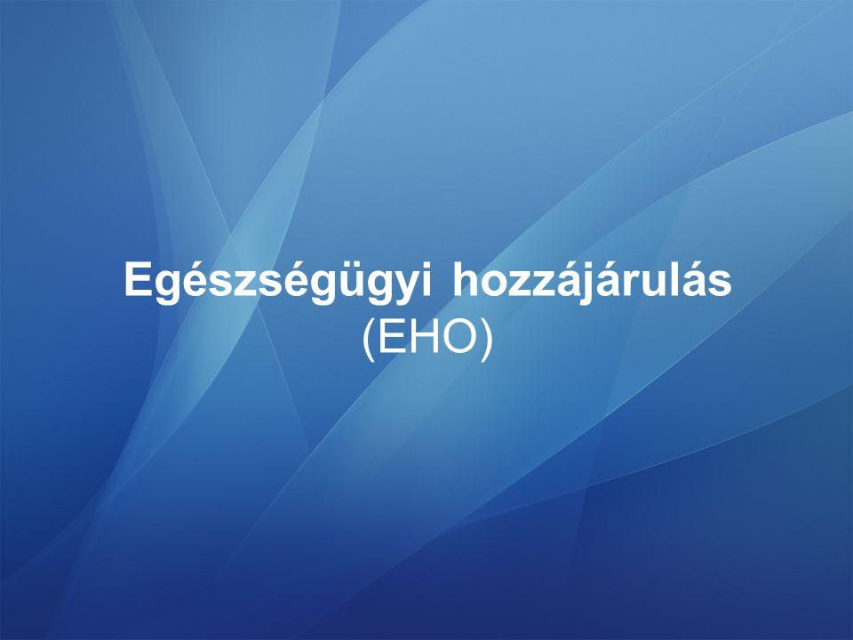 Egészségügyi hozzájárulás (EHO)