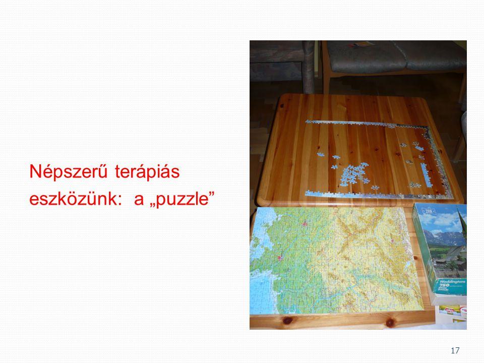 """Népszerű terápiás eszközünk: a """"puzzle"""