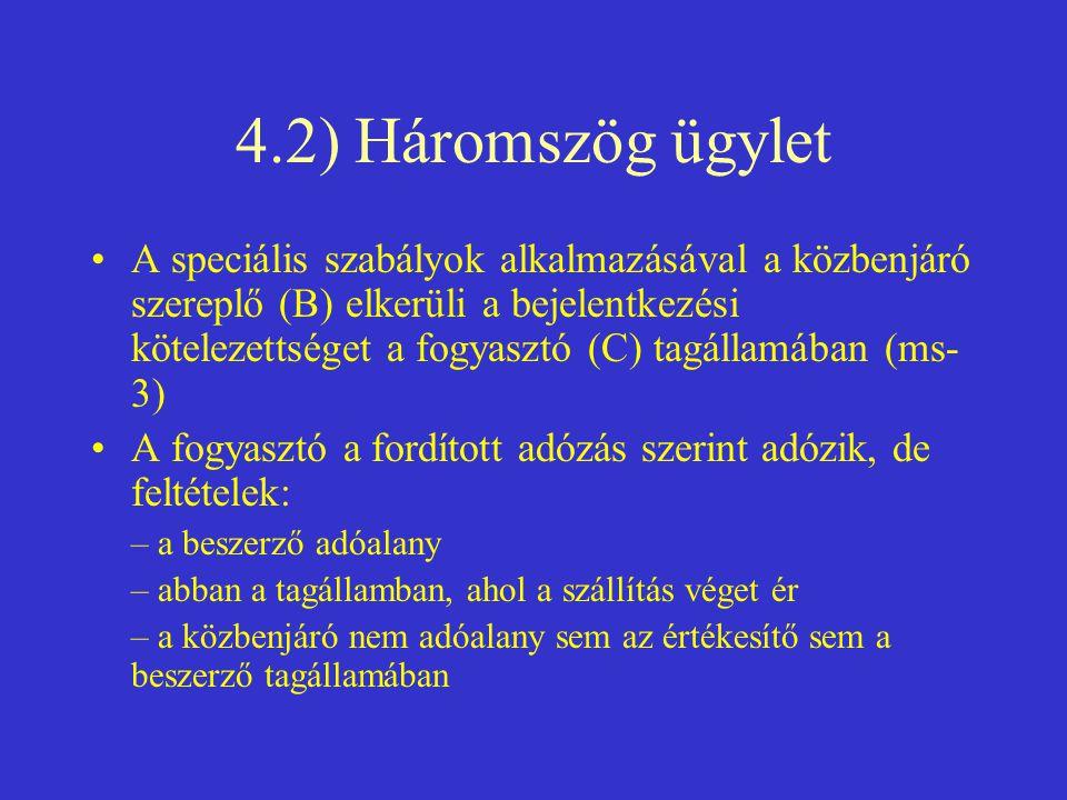 4.2) Háromszög ügylet
