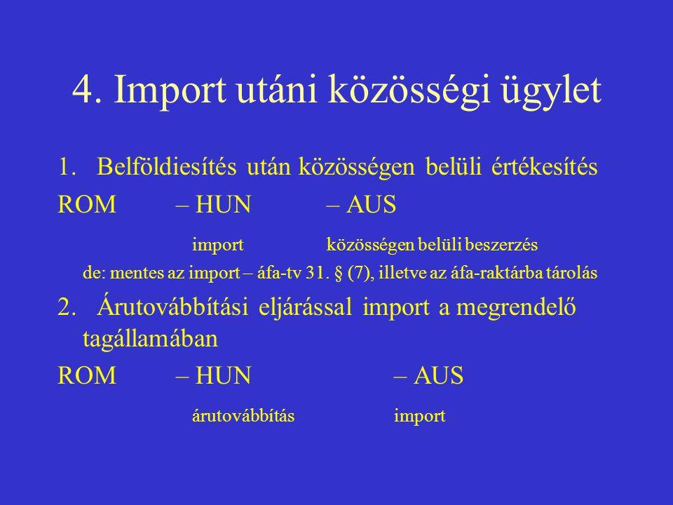 4. Import utáni közösségi ügylet