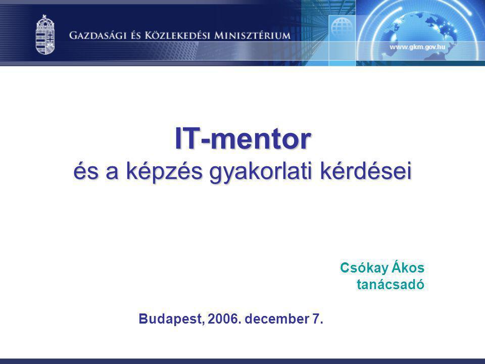 IT-mentor és a képzés gyakorlati kérdései