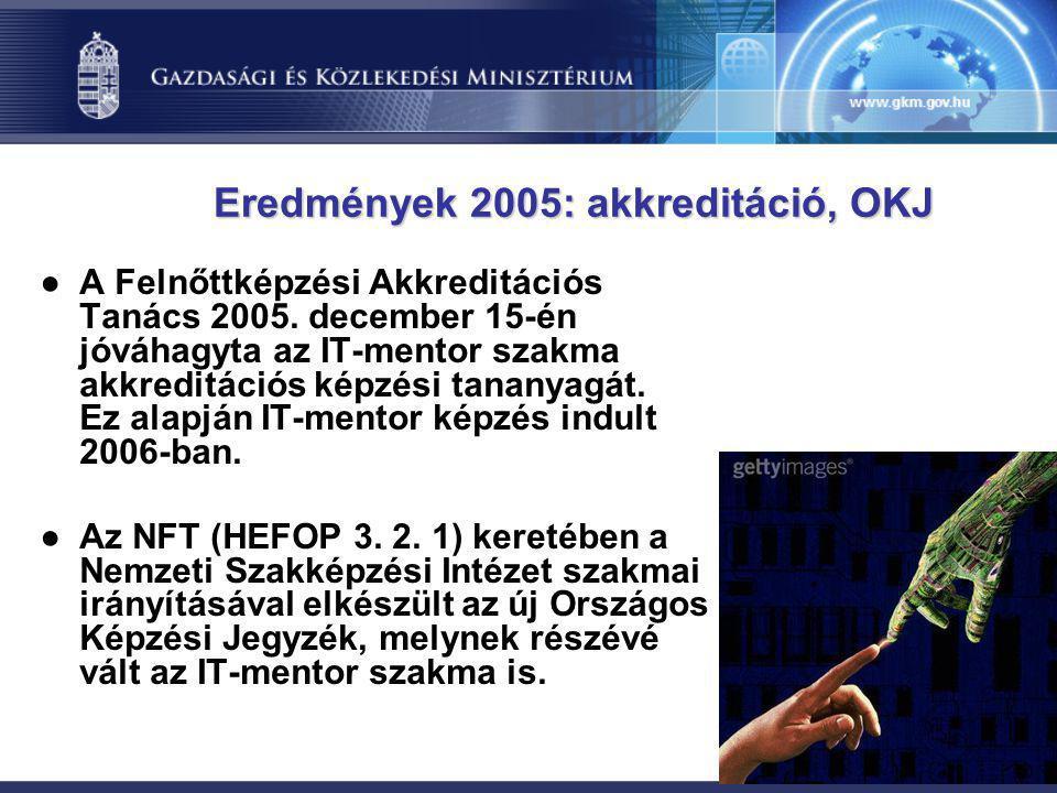 Eredmények 2005: akkreditáció, OKJ