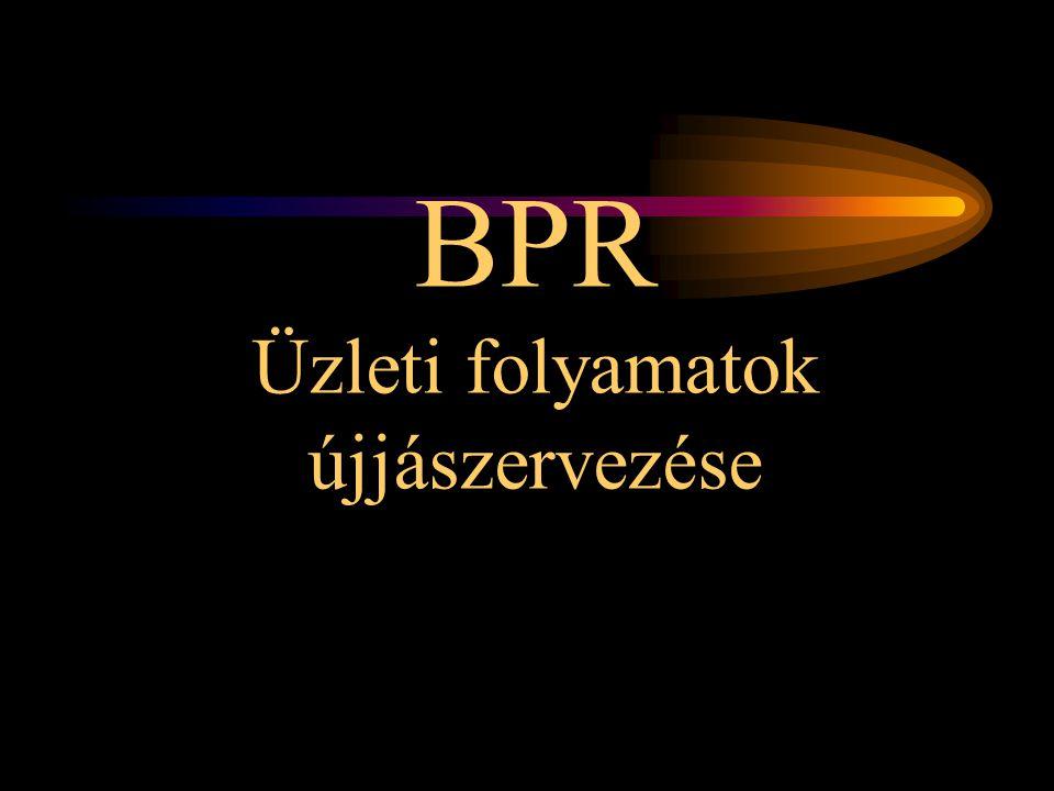 BPR Üzleti folyamatok újjászervezése
