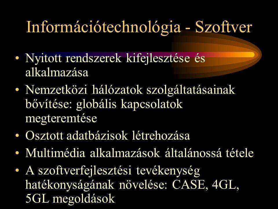 Információtechnológia - Szoftver
