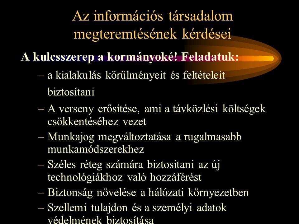 Az információs társadalom megteremtésének kérdései
