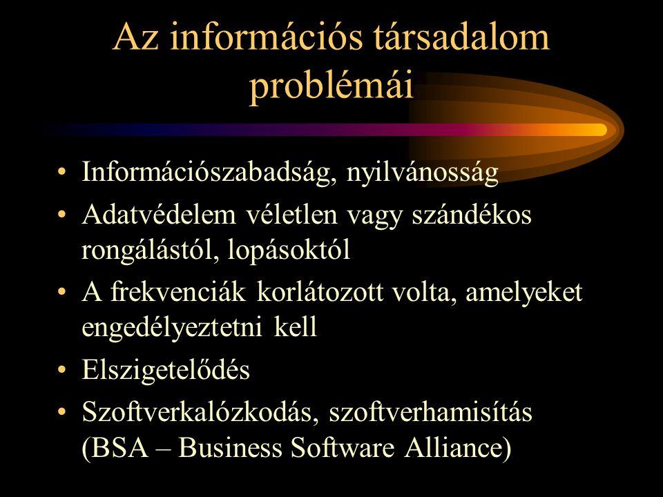 Az információs társadalom problémái
