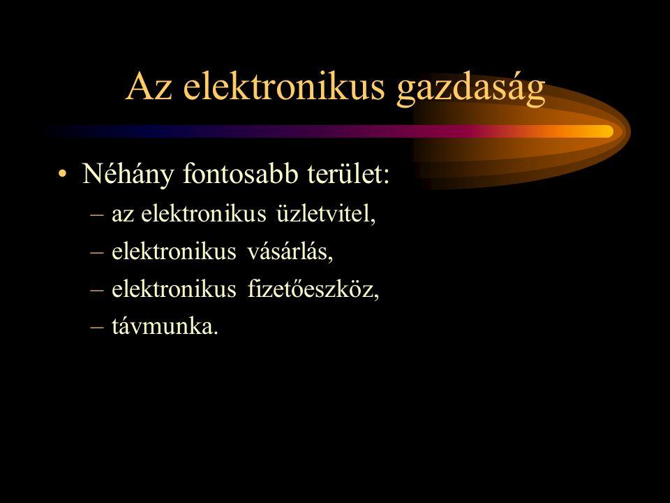 Az elektronikus gazdaság