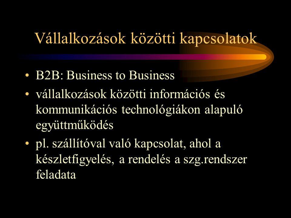 Vállalkozások közötti kapcsolatok