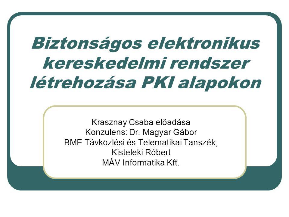 Biztonságos elektronikus kereskedelmi rendszer létrehozása PKI alapokon
