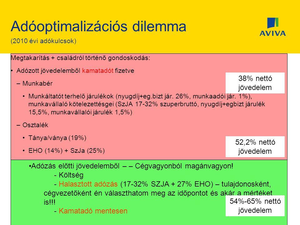 Adóoptimalizációs dilemma (2010 évi adókulcsok)