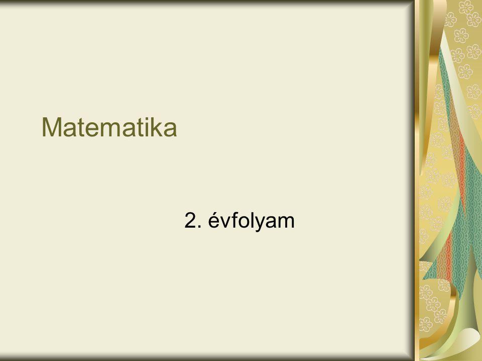 Matematika 2. évfolyam