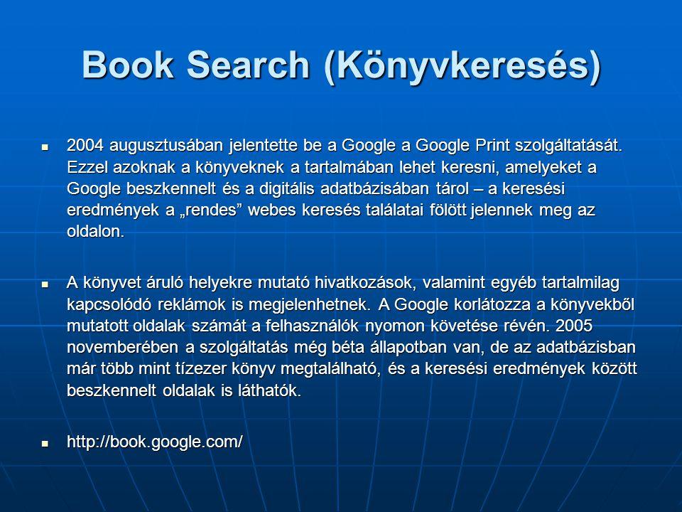 Book Search (Könyvkeresés)