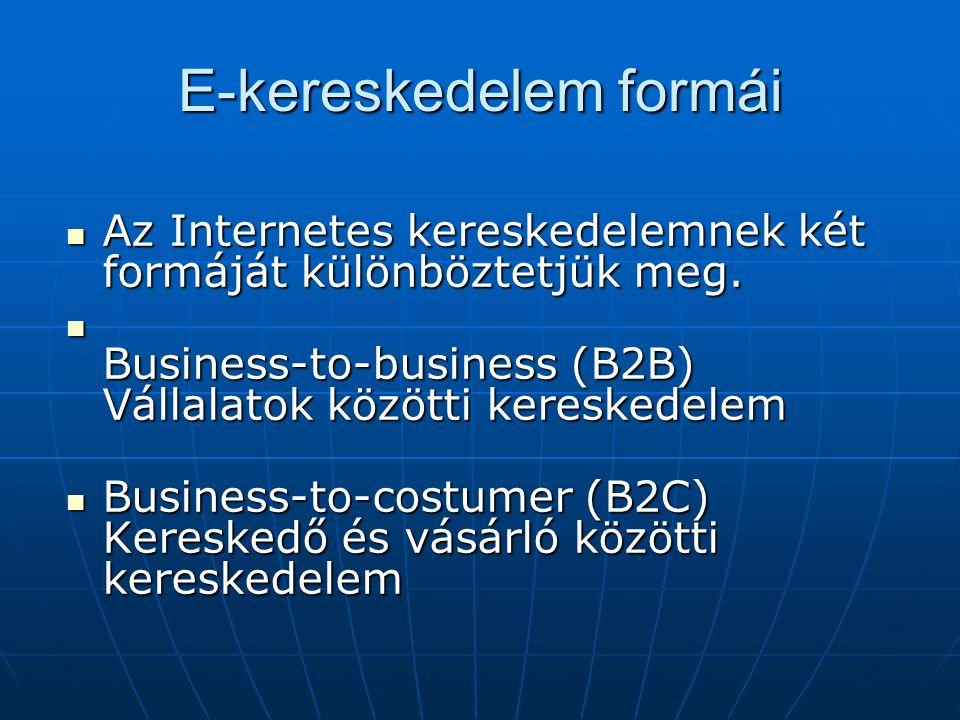 E-kereskedelem formái