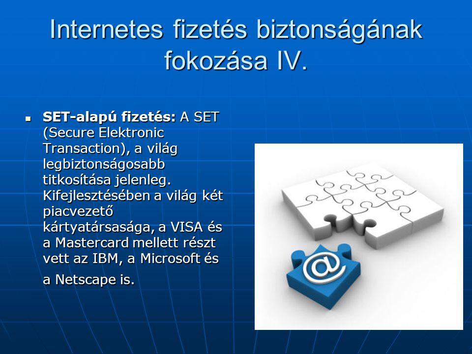 Internetes fizetés biztonságának fokozása IV.