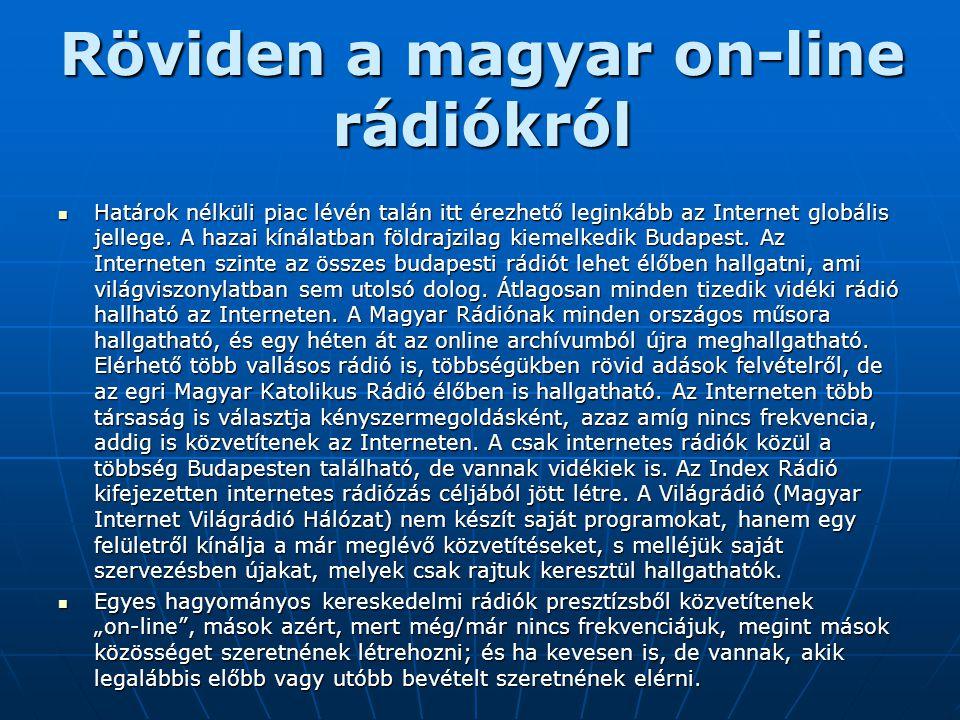 Röviden a magyar on-line rádiókról