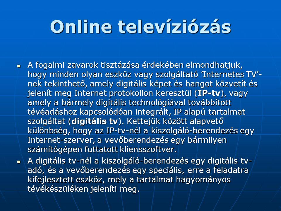 Online televíziózás