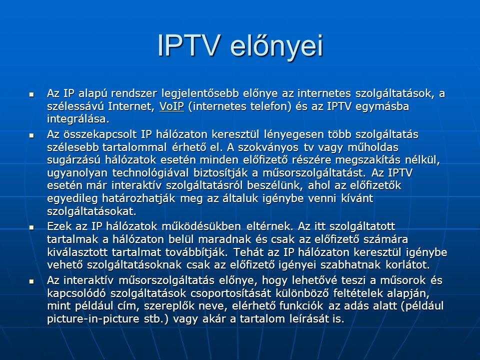 IPTV előnyei
