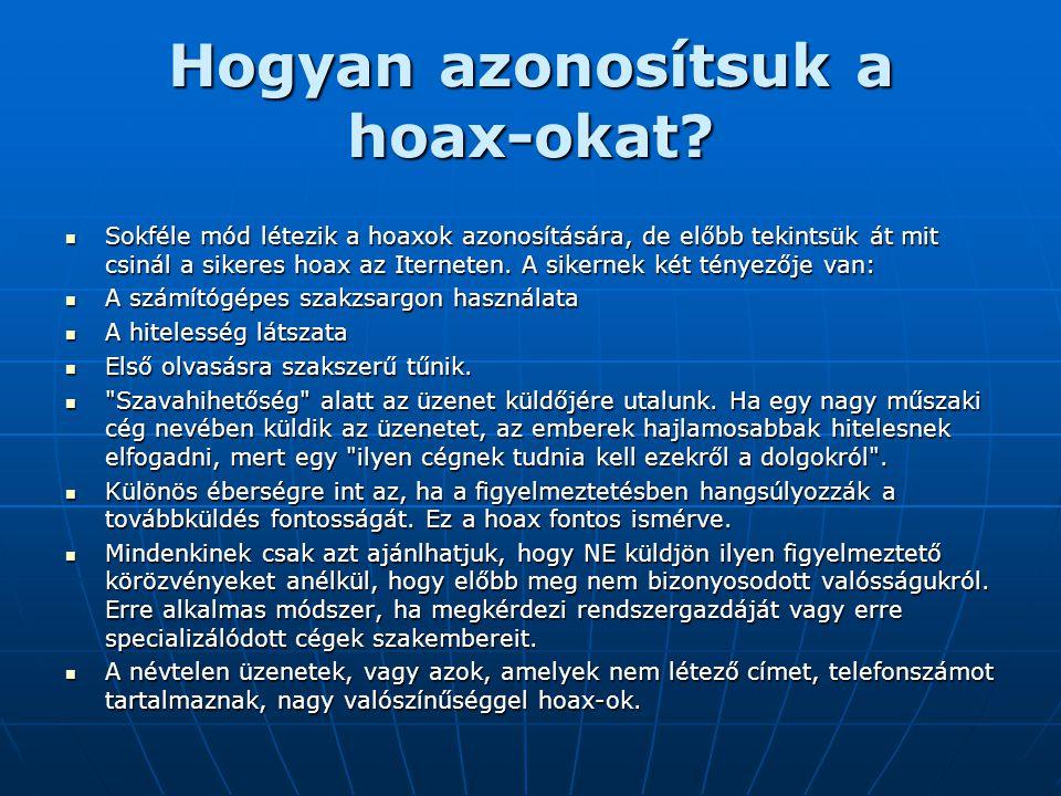 Hogyan azonosítsuk a hoax-okat