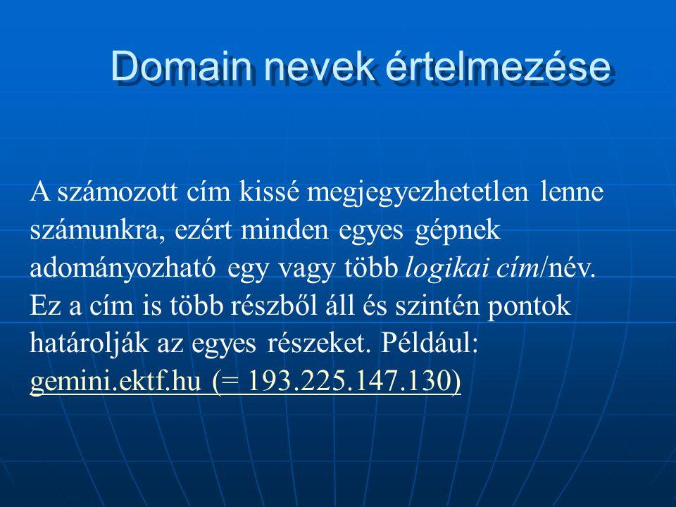 Domain nevek értelmezése