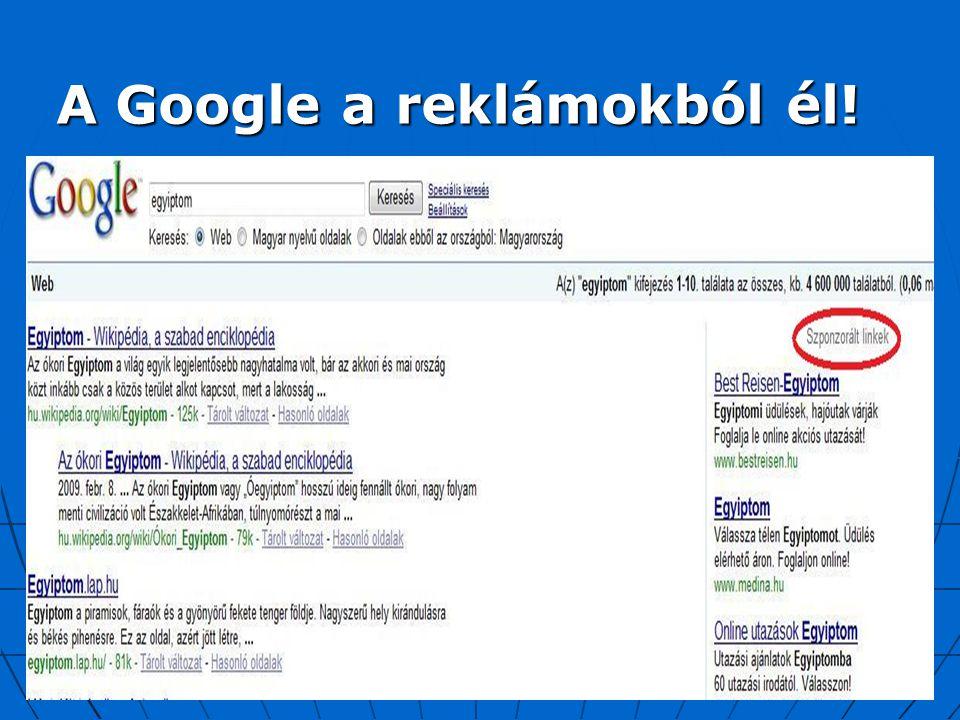 A Google a reklámokból él!