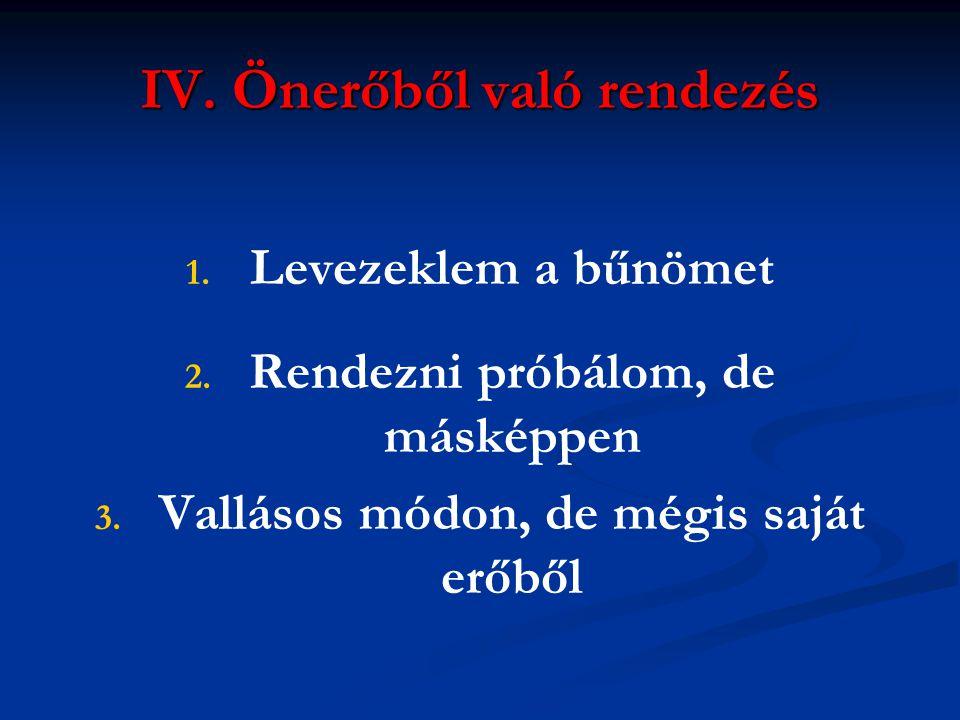 IV. Önerőből való rendezés