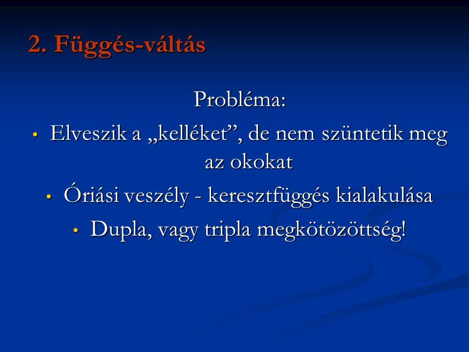 2. Függés-váltás Probléma: