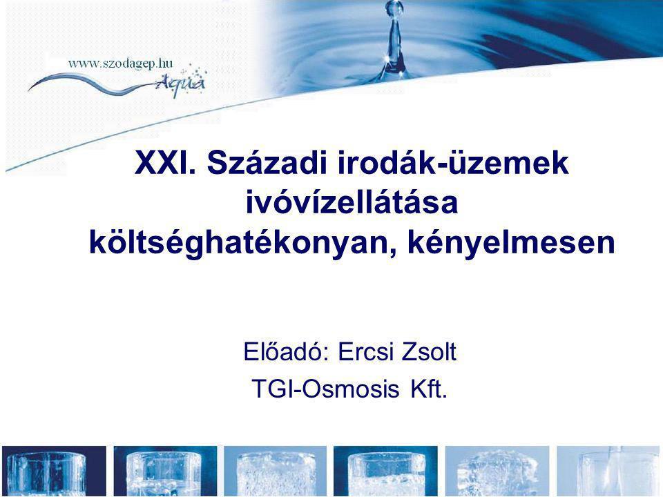 Előadó: Ercsi Zsolt TGI-Osmosis Kft.