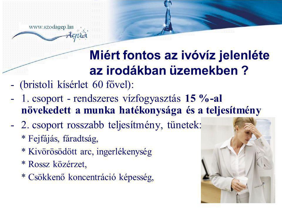 Miért fontos az ivóvíz jelenléte az irodákban üzemekben