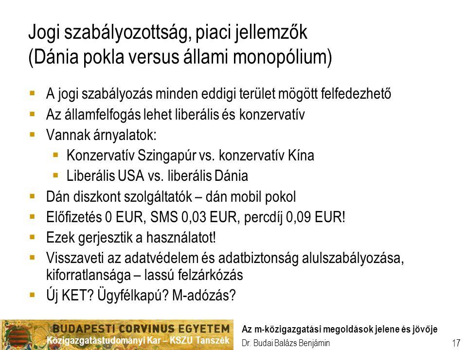 Jogi szabályozottság, piaci jellemzők (Dánia pokla versus állami monopólium)