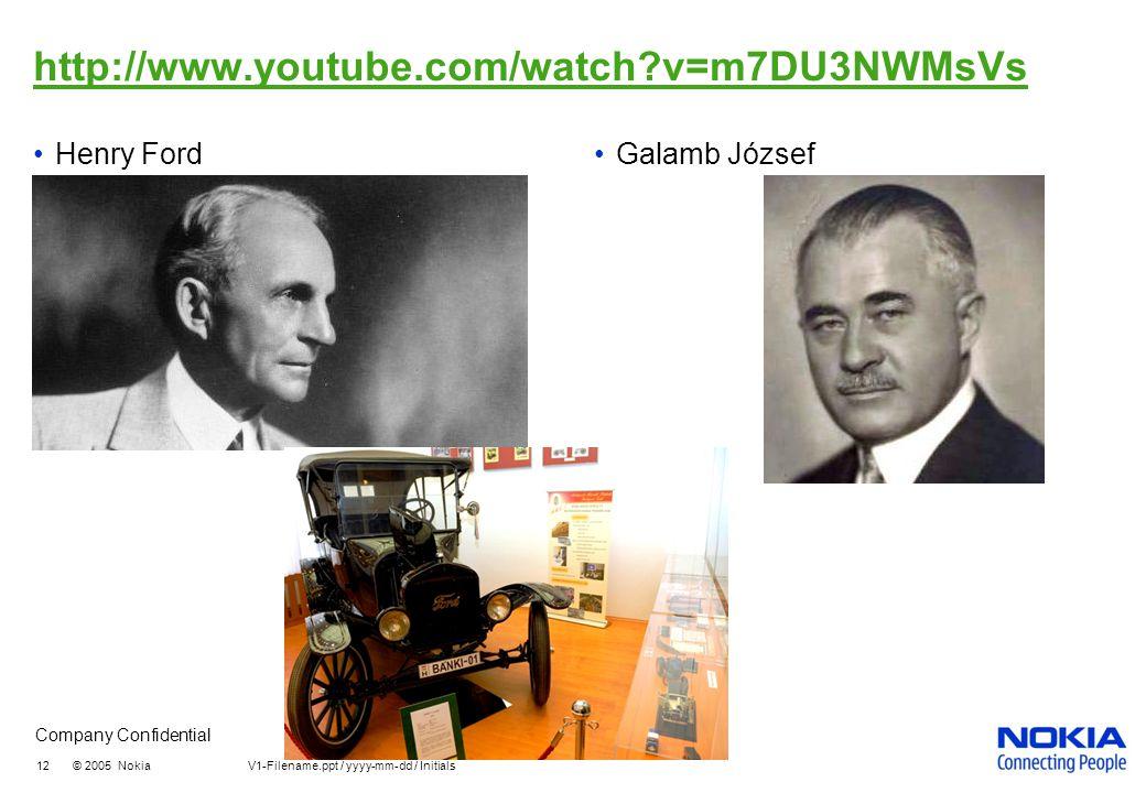 http://www.youtube.com/watch v=m7DU3NWMsVs Henry Ford Galamb József