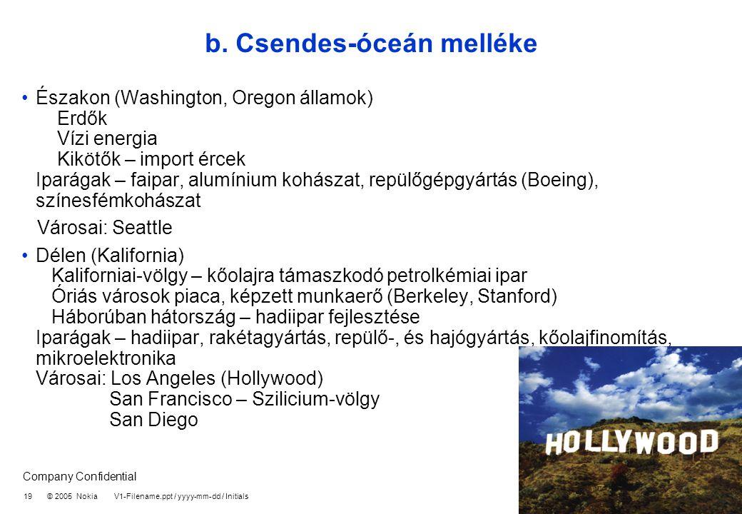 b. Csendes-óceán melléke