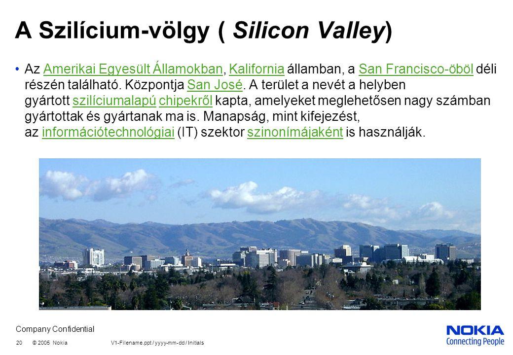 A Szilícium-völgy ( Silicon Valley)