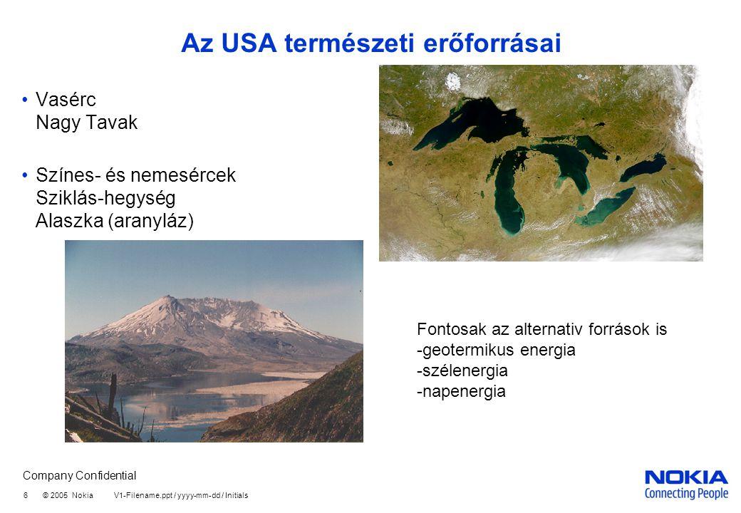 Az USA természeti erőforrásai