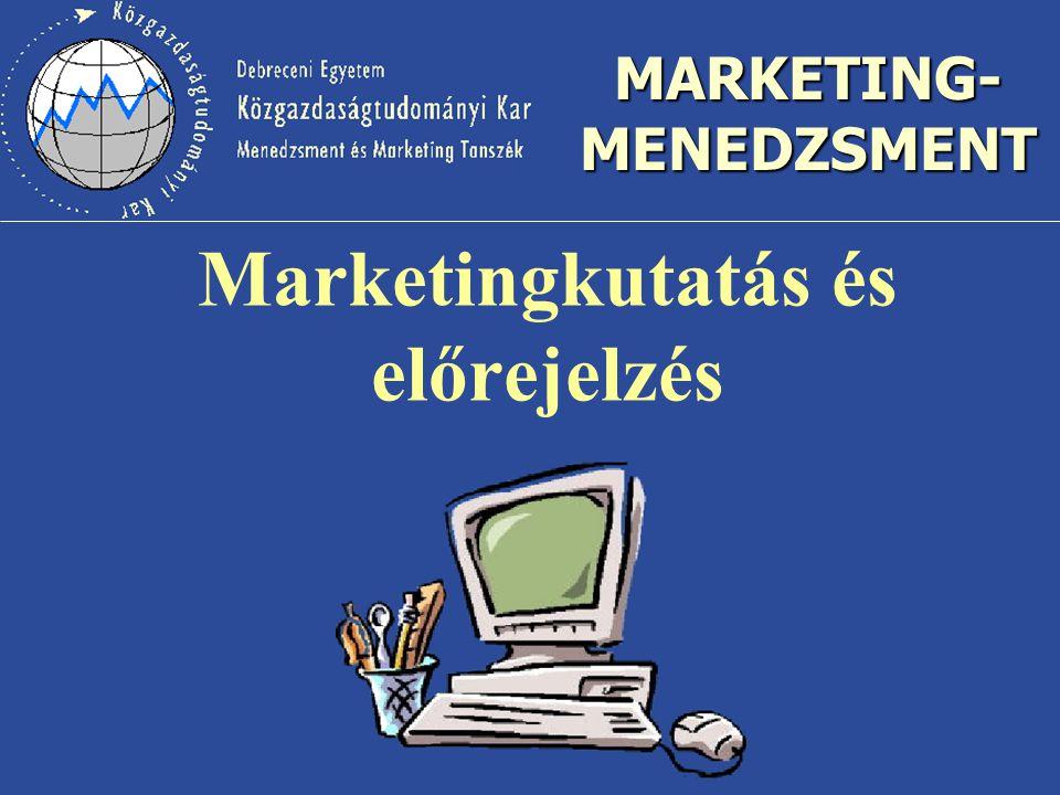 Marketingkutatás és előrejelzés