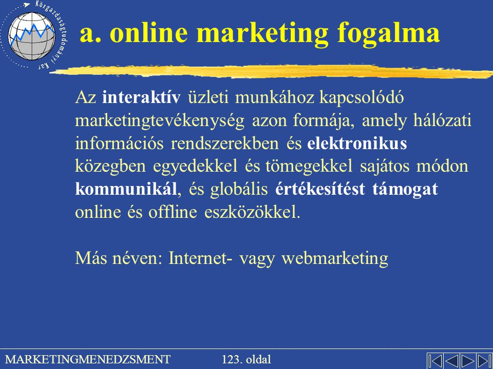 a. online marketing fogalma