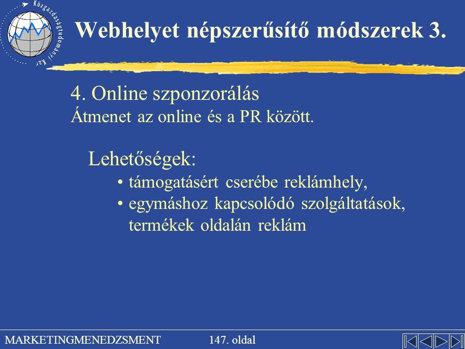 Webhelyet népszerűsítő módszerek 3.