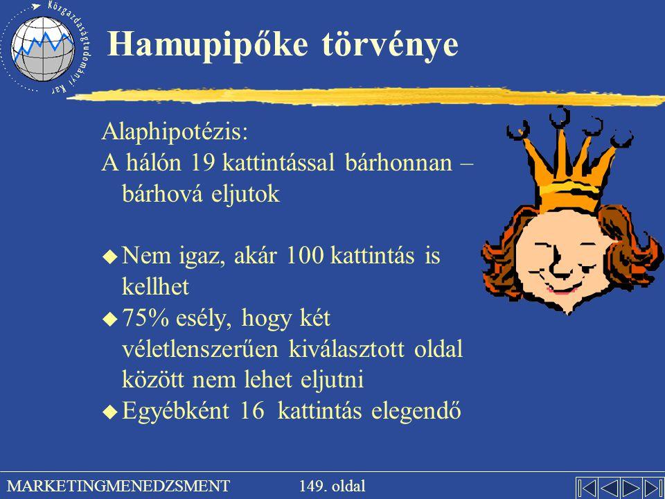 Hamupipőke törvénye Alaphipotézis: