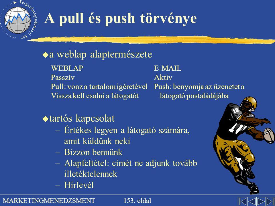 A pull és push törvénye a weblap alaptermészete tartós kapcsolat