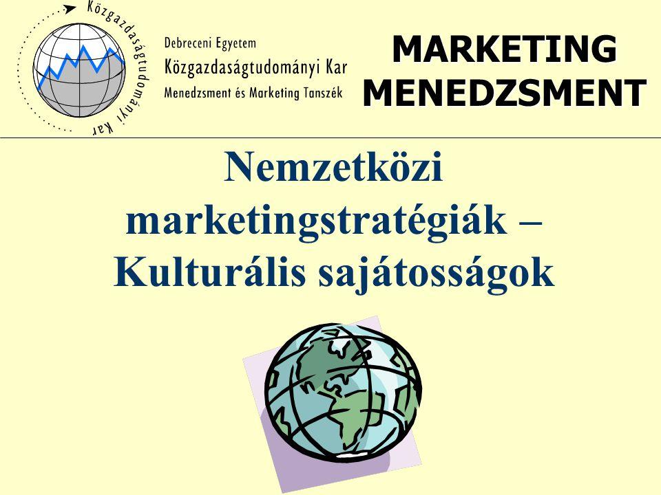Nemzetközi marketingstratégiák – Kulturális sajátosságok