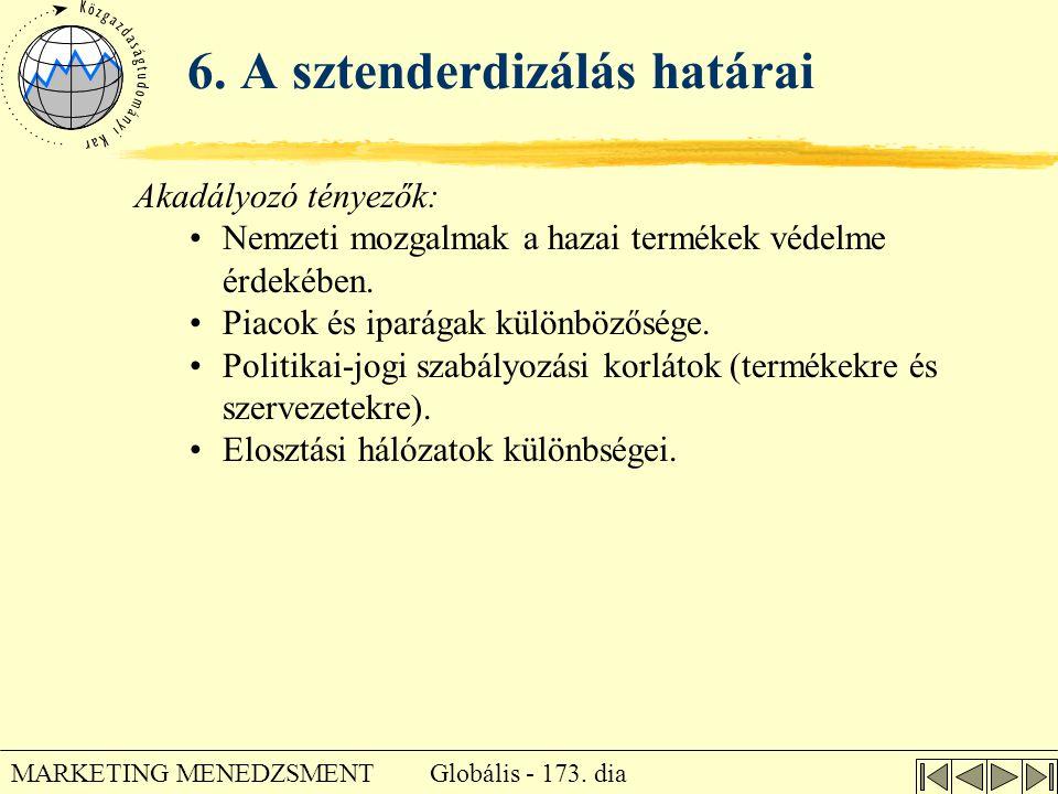 6. A sztenderdizálás határai