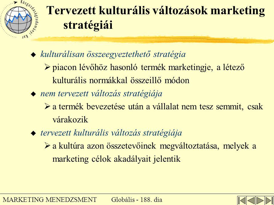 Tervezett kulturális változások marketing stratégiái