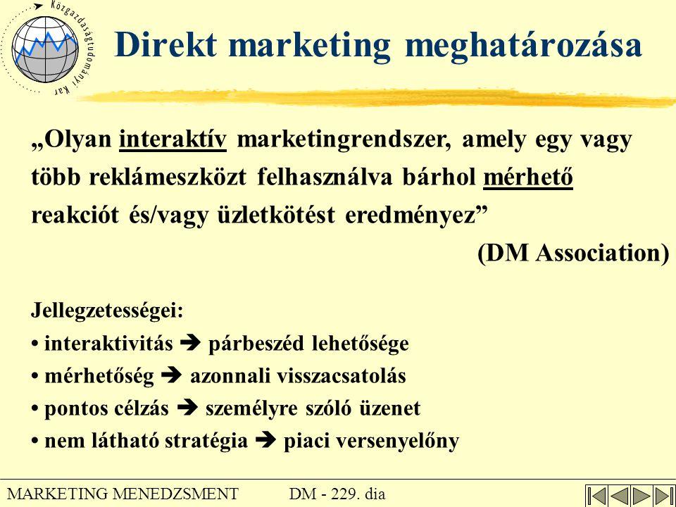 Direkt marketing meghatározása