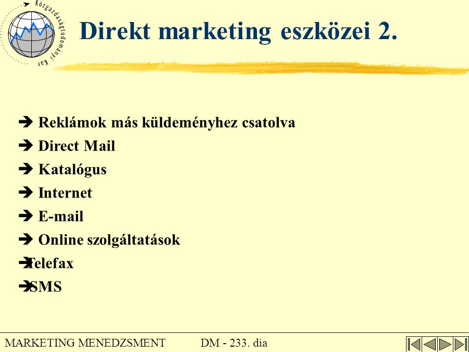Direkt marketing eszközei 2.