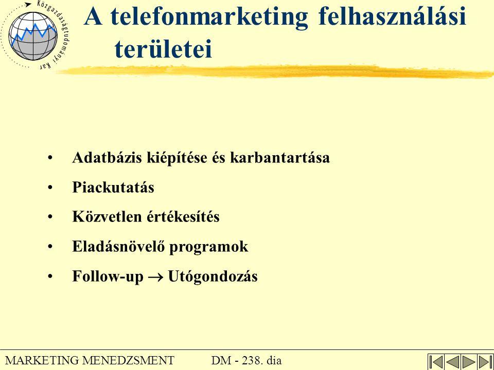A telefonmarketing felhasználási területei