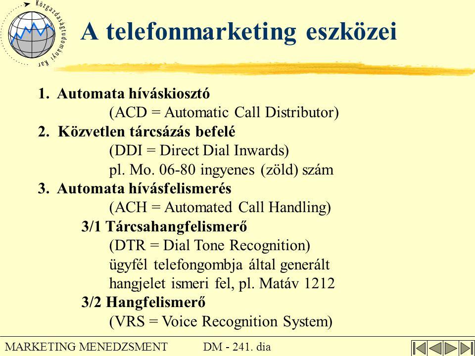 A telefonmarketing eszközei