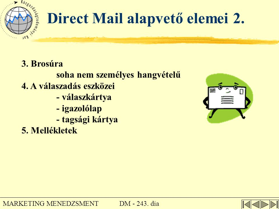 Direct Mail alapvető elemei 2.