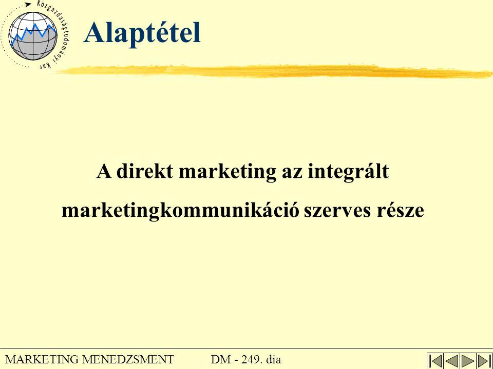 A direkt marketing az integrált marketingkommunikáció szerves része