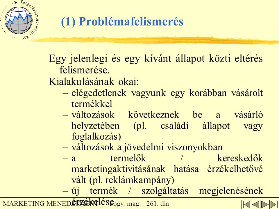 (1) Problémafelismerés