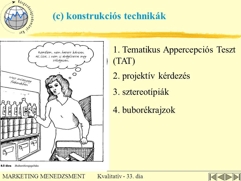 (c) konstrukciós technikák
