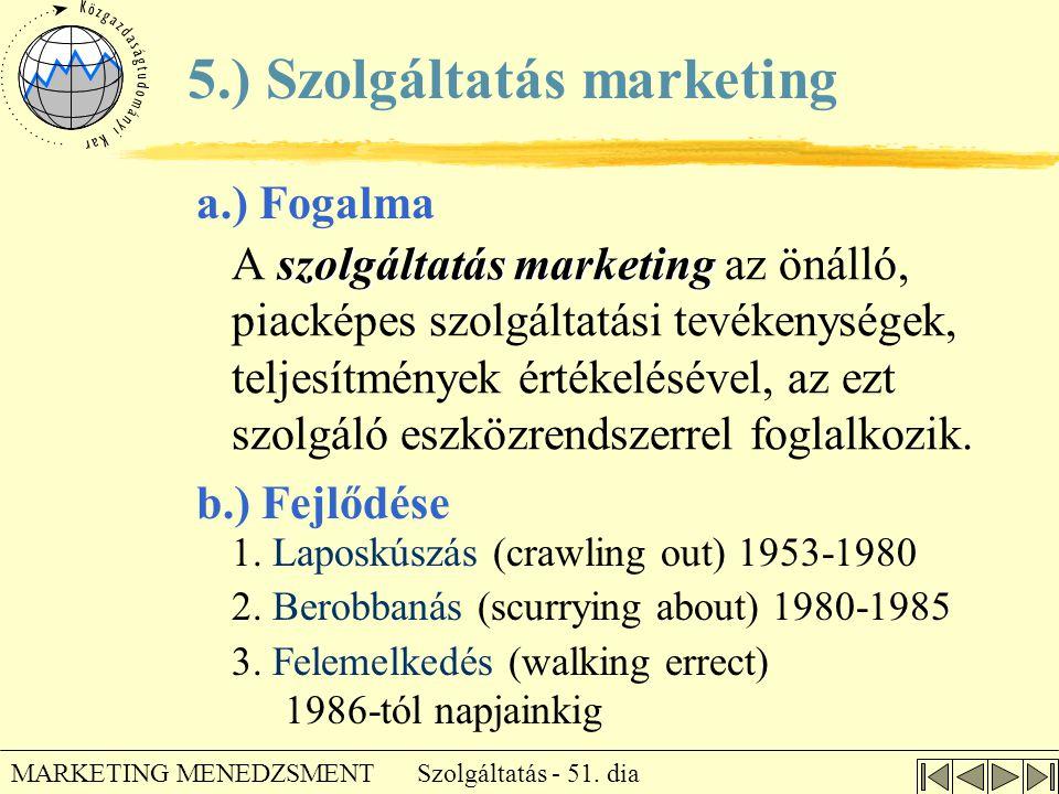 5.) Szolgáltatás marketing